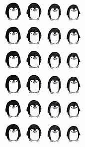 penguin pattern wallpaper. Plain Penguin Little Penguins And Penguin Pattern Wallpaper N