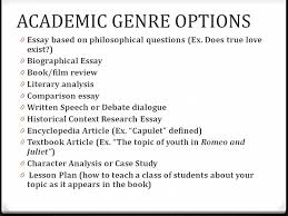 different genres different conventions ppt 8 academic genre options