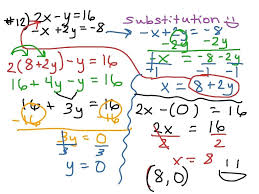 substitution method math aids mathematician cool how to solve simultaneous equations using