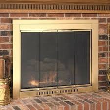 fireplace glass doors sentry contemporary fireplace glass door leave fireplace glass doors open or closed