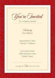 Formal Event Invitation You Get Ideas From This Site