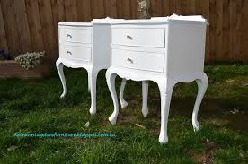 Queen Anne Bedroom Furniture For Retro Vintage Love Queen Anne Vintage Bedside Tables Painted