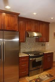 Maple Natural Kitchen Cabinets Natural Cherry Shaker Tall Kitchen