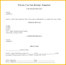 Selling Car Receipt Template