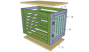 How to make a dog crate Crate Cover This Wooden Design From My Outdoor Plans Is Fantastic For Owners Who Want To Make Simple And Easy Yet Attractive Wood Dog Crate From Scratch Tall Cactus Plants Diy Dog Crate Plans Plans For Your Pups Custom Kennel