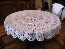 how to make a 70 in round tablecloth free round tablecloth patterns crochet pattern round tablecloth