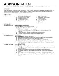 Best Solutions of Sample Resume Administrative Coordinator With Sheets