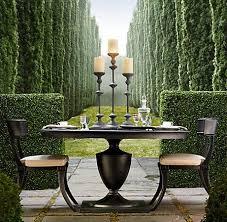 klismos round dining table and chairs from rh love this outdoor furniture
