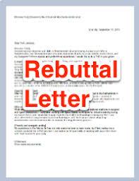 letter of rebuttal sample rebuttal letter journal submission