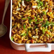 macaroni and beef cerole recipe