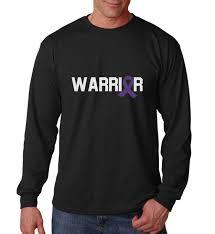 Long Sleeve Warrior Shirt Purple Ribbon T Shirt Epilepsy