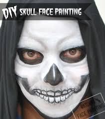 diy skull face painting by okidoki face painting okidokifacepainting com