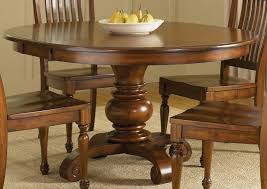 Table Round Wood Dining Tables Round Dark Pedestal Table Round