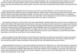 argumentative essay illegal immigration america