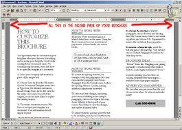 brochure microsoft word how to make a brochure on word