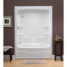 Mirolin  Liberty 60 Inch 1pc Acrylic Tub And Shower  TS5L Acrylic Shower Tub Combo