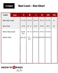 Next Level Raglan Shirt Size Chart Next Level Nl3310 Premium Short Sleeve Tee