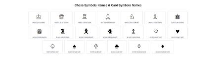 playing cards symbols name