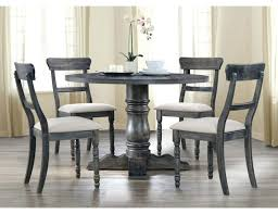 gray round dining table set fafnir 5 pc weathered by furniture of america grey