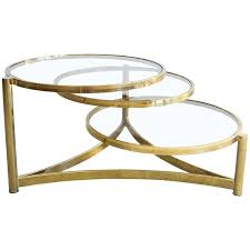 level brass and glass swivel coffee table for ikea id f mid century modern brass and smoked glass swivel coffee table