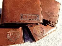 100 genuine men s leather wallet custom embossed wedding father s day birthday gift idea