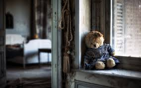 teddy bear sad lonely windows house poor life alone bedroom emotions wallpaper