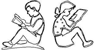 reading books drawing at getdrawings