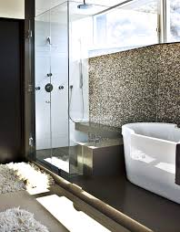 bathroom glass partition designs