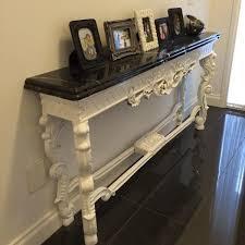 mahogany hall table. Reproduction Console W Marble Top Mahogany Hall Table