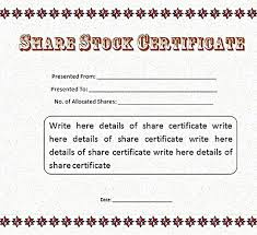 Microsoft Stock Certificate Word Template Beadesigner Co