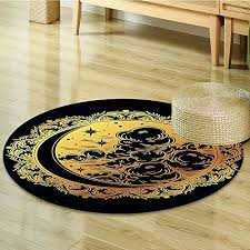 small round rug carpet authentic spiritual occult tribal pagan