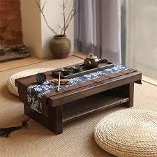 Oriental Antique Furniture Design Japanese Floor Tea Table Small Size  60*35cm Living Room Wooden