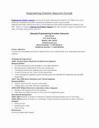 Mechanical Engineering Resume Format Elegant Resume Collection Of
