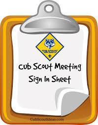 Webelos Attendance Chart Attendance Sheet For Cub Scouts Cub Scout Ideas