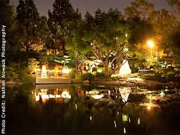 japanese garden lighting. Earl Burns Miller Japanese Garden CSU Long Beach South Bay LA Lighting
