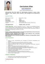 Format Of A Resume For Job Application F8resume Sample