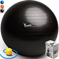 Yoga Ball Size Chart Luxfit Exercise Ball Premium Extra Thick Yoga Ball 2 Year Warranty Swiss Ball Includes Foot Pump Anti Burst Slip Resistant 45cm 55cm 65cm