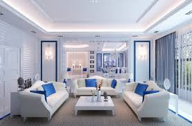 living room blue sofa design rendering white interior living room living rooms white and blue blue room white