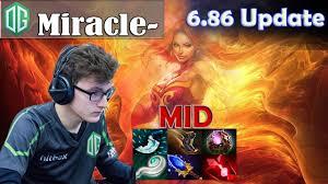 miracle lina midlane pro 6 86 patch gameplay dota 2 mmr youtube
