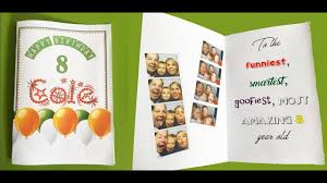 Half Fold Card Template Word How To Make A Foldable Birthday Card With Ms Word