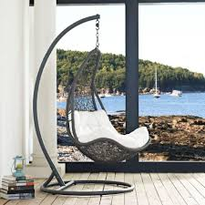 outdoor furniture swing chair. Modway Eei 2276 Gry Whi Set Abate Outdoor Patio Swing Chair In 4 : Furniture