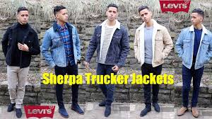 levi s sherpa trucker jackets sizing review levis leather trucker jacket how to style