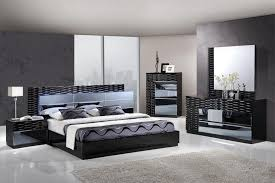 black glossy unique bedroom set with led headboard gfmanh modern unique bedroom sets