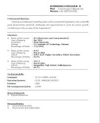 Mechanical Engineering Resume Examples Fascinating Sample Resume For Fresher Teachers Job Fruityidea Resume