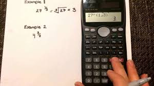 fraction exponents calculating values where the exponent is a fraction casio fx 991ms