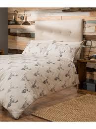 lomond check stag 100 cotton duvet set