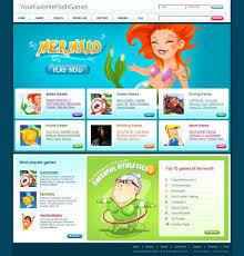 Flash Website Templates Flash Games Website Template 24 8