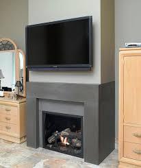 solus span concrete fireplace