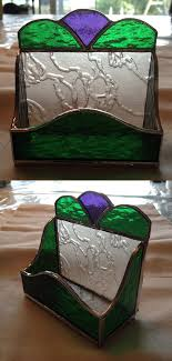 Handmade Stained Glass Business Card Holder By Qtsg On Etsy