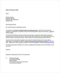 Medical Termination Letter Layoff Letter Template Under Fontanacountryinn Com